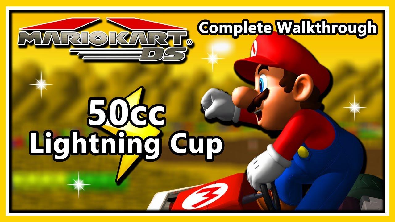 Mario Kart DS Complete Walkthrough - 50cc Lightning Cup & Credits Version 1  (HD 1080p)