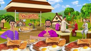 Greedy Bread Omelet Seller Story Hindi | लालची ब्रेड ऑमलेट वाला कहानी | Greedy Stories | Maa Maa TV