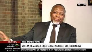 Motlanthe criticises Trump's trade war