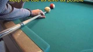 Pool and billiards draw/backspin/screw-back shot - Part 1: technique (NV B.97)