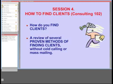Consulting 102  How to Find Clients 0