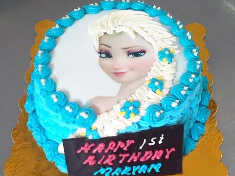 Frozen Elsa Cake With Buttercream Hair A Hot Buns Bakery recent