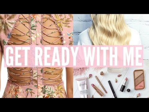 GET READY WITH ME | Hair | Nails | Tanning Routine