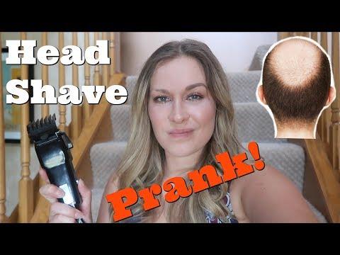 HEAD SHAVE PRANK! (Bald Spot)