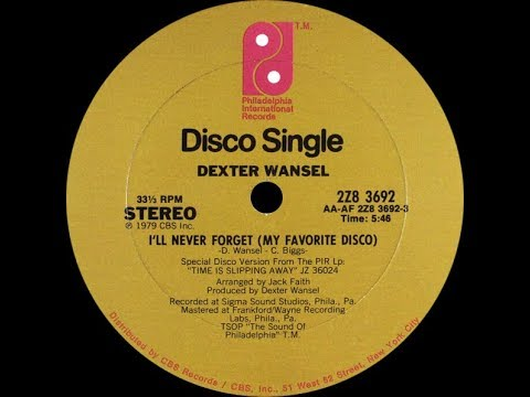Dexter Wansel I Ll Never Forget My Favorite Disco 1979 Youtube