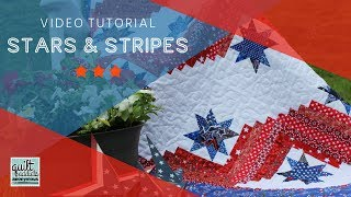 Gambar cover Quilt Addicts Anonymous Stars & Stripes Quilts of Valor pattern tutorial