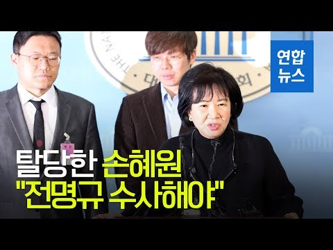 """탈당한 손혜원 """"전명규 수사해야""""…'빙상계 적폐' 비판 앞장 / 연합뉴스 (Yonhapnews)"""