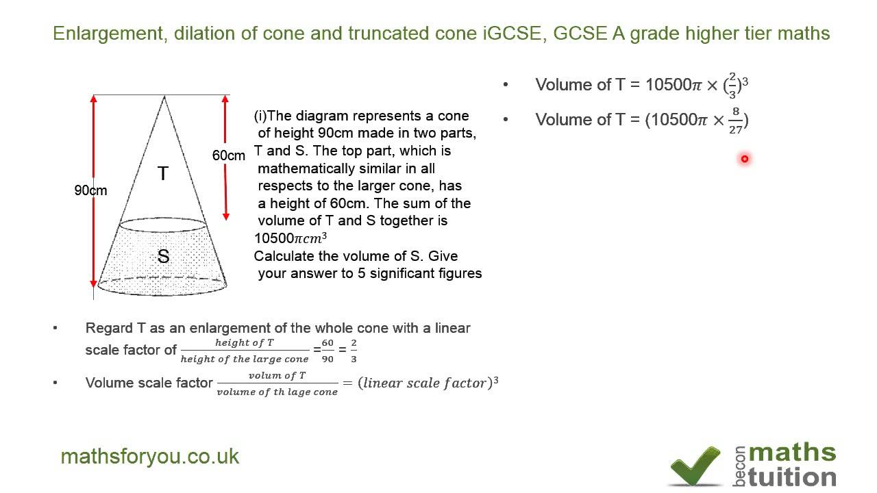 what is the formula for the volume of a truncated cone