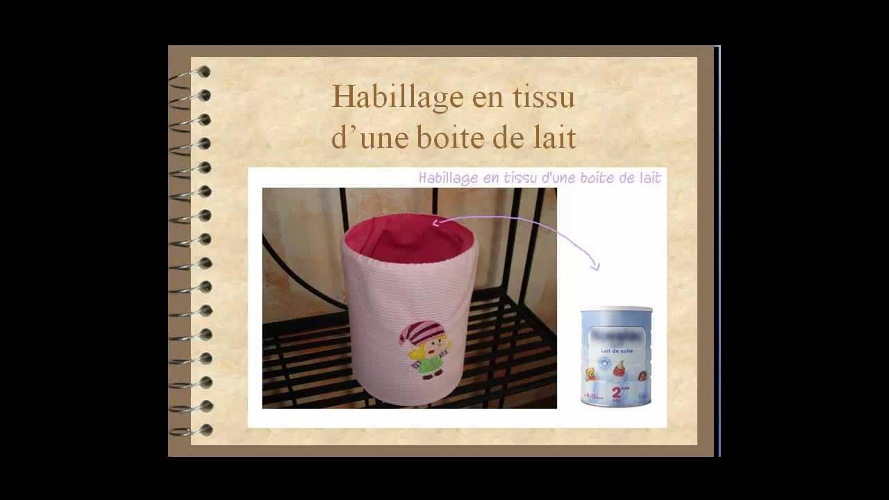 Exceptionnel Habillage en tissu d'une boite de lait - YouTube SB43
