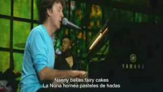 Paul McCartney English Tea live lyrics subtitulado español