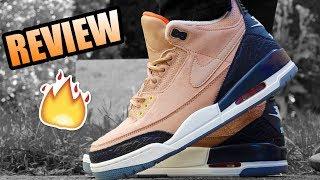 Jordan 3 JTH BIO BEIGE Review !   Jordan 3 JTH Bio Beige On Feet !