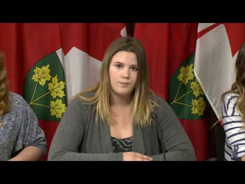 Kitchener-Waterloo Girls' Government press conference
