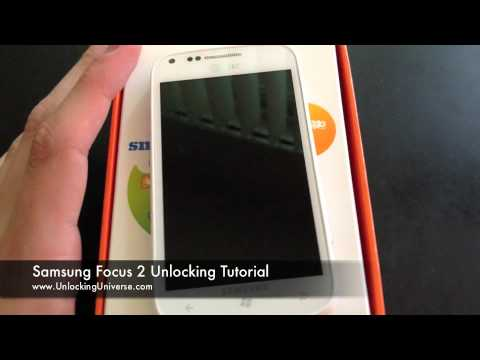 How to Unlock Samsung Focus 2 for all Gsm Carriers using an Unlock Code