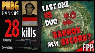 [Eng Sub] Sanhok, New Record - superNayr 28 kills [SEA] Duo FPP