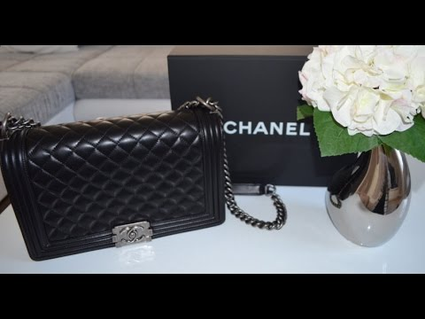 ee9296dcb58c49 CHANEL BOY BAG 2015 Unboxing + REVIEW | My 1st CHANEL - YouTube