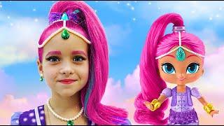 Sofía se viste de Shimmer y Shine y abre un nuevo juguete