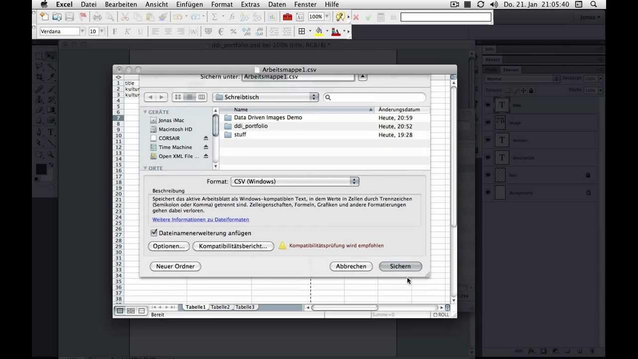 Excel-Tabellen in Photoshop auslesen: Data Driven Images - YouTube