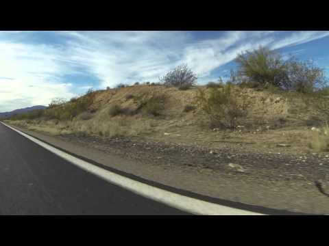 U.S. Route 93 South through Wikieup, Arizona, 19 December 2015, Right Front View, GP060062