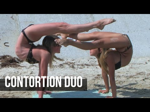Contortion Duo. Stretching