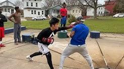 Pro boxer vs Amateur boxer STREET BOXING