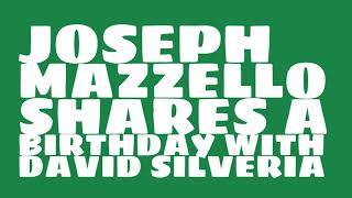 Who does Joseph Mazzello share a birthday with?