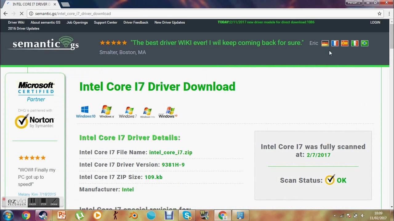 Intel core i7 драйвера скачать