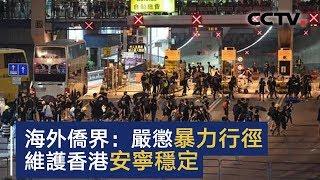 海外侨界呼吁严惩暴力行径 维护香港安宁稳定 | CCTV中文国际