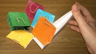 Подарочный пакет из бумаги / Оригами из бумаги пакетик