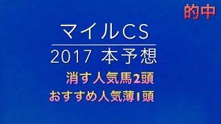 【競馬予想】 マイルCS 2017 本予想 最終予想 thumbnail