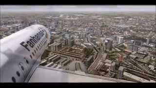 (FSX) Lufthansa (LH284) landing Bologna Italy (BLQ)