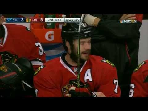 St. Louis Blues vs. Chicago Blackhawks Fan yelling 'Drop the Puck, You Idiot'
