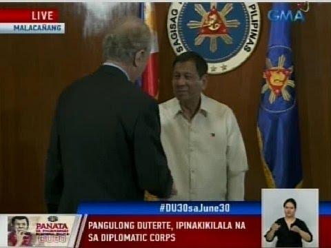 GMA: Pangulong Duterte, ipinakikilala na sa diplomatic corps