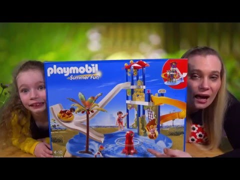 Playmobil Summer Fun -  Water Park With Slides 6669 Unboxing