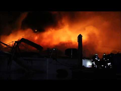 3 alarm falmouth boat fire    burn victim