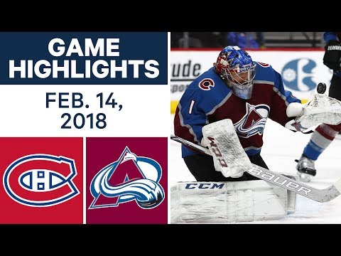 NHL Game Highlights | Canadiens vs. Avalanche - Feb. 14, 2018
