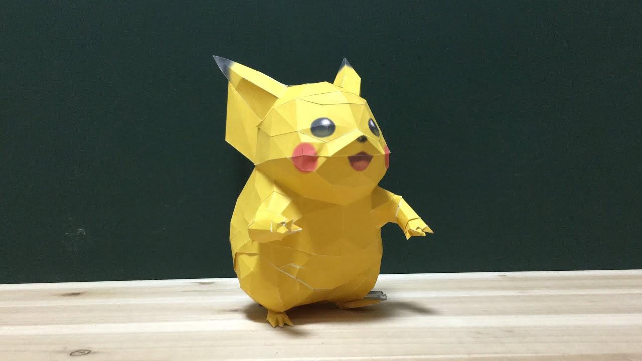 how to make pikachu papercraft