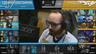 [GG] CLG (Darshan Camille) VS FLY (Hai Talon) Game 5 Highlights - 2017 NA LCS Spring Quarterfinals