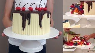 CHOCOLATE PINATA Birthday Cake HOW TO COOK THAT gluten free egg free Ann Reardon