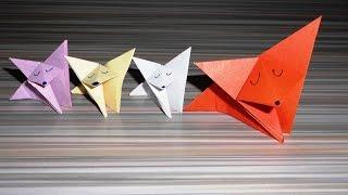 Лиса из бумаги  Оригами. Как сделать из бумаги лисичку