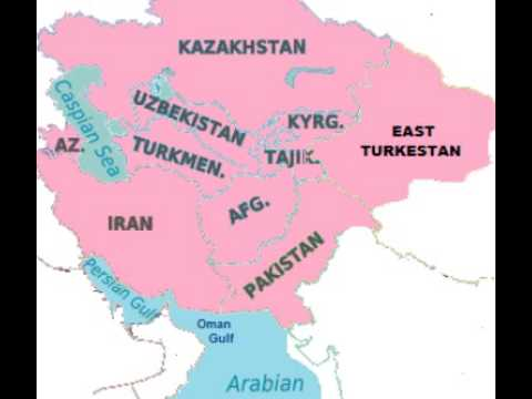 map of south central asia special region