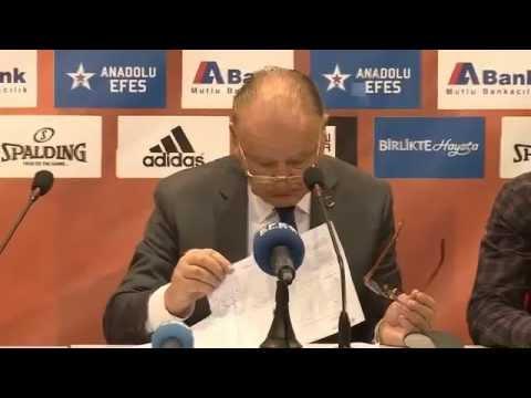 Anadolu Efes – Real Madrid Maç Sonrası Basın Toplantısı CANLI YAYIN