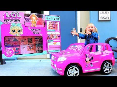 МОДНЫЙ ПОДИУМ #ЛОЛ! +ЗОЛОТАЯ КУКЛА ЛОЛ! LOL SURPRISE POP-UP STORE + DISPLAY - video for kids