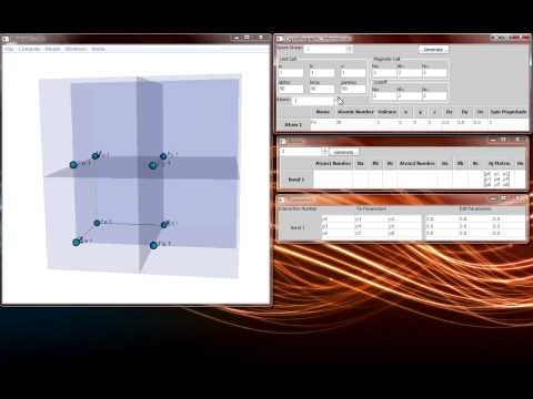 Spinwaves Software Tutorial: Lattice and Bonds Creation