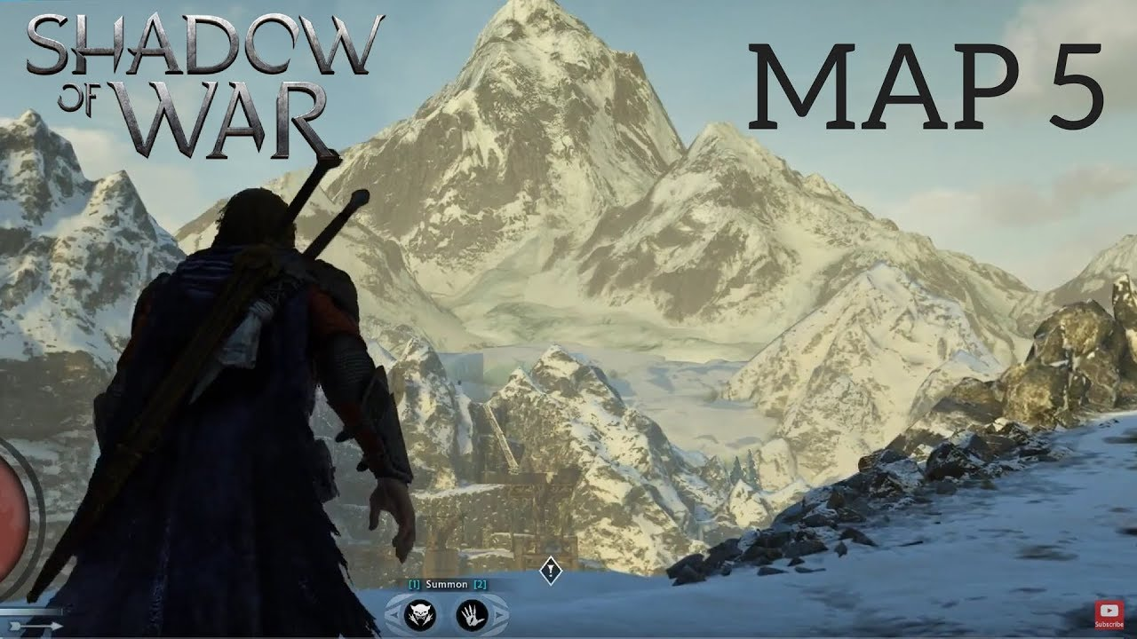 HOW BIG IS THE MAP in Middle-Earth: Shadow of War? Walk Across Map 5