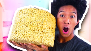 HOW TO MAKE GIANT RICE KRISPY MARSHMALLOW!!!