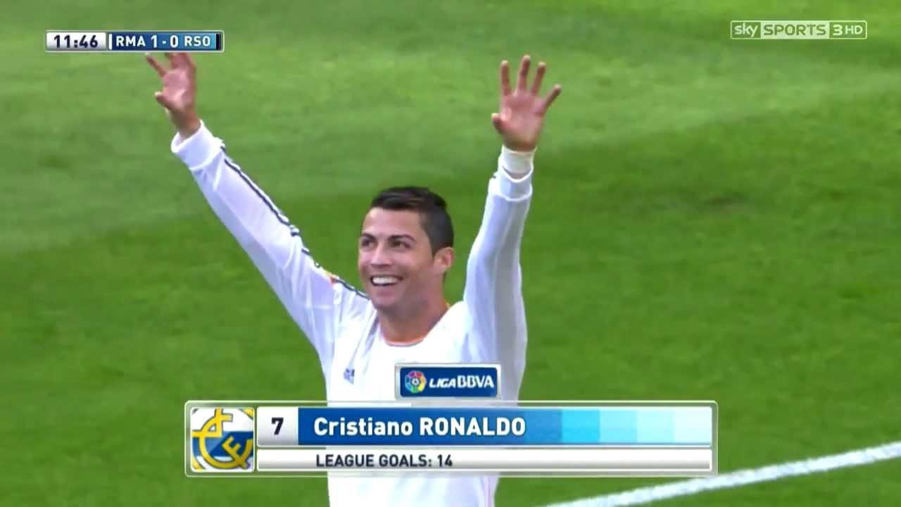 Download Cristiano Ronaldo Vs Real Sociedad Home (English Commentary) - 13-14 HD 720p By CrixRonnie