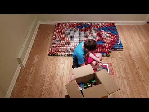 Tracy Lynn - Boy With Dyslexia Creates John Cena Mosaic With Rubik's Cubes!