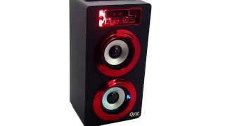 QFX BT 140 Portable Rechargeable Bluetooth Speaker System With USB SD Aux