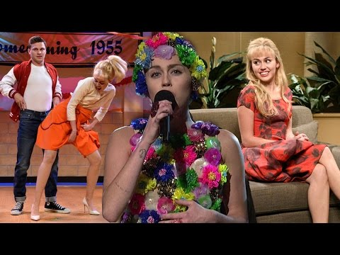 Thumbnail: Miley Cyrus' SNL Hosting Highlights - Mocks Ariana Grande & Scandals