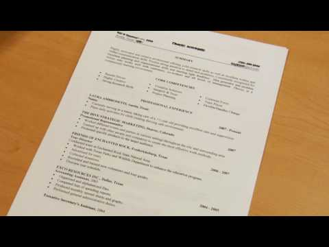 How to Get a Good Job  How to Write a Work Resume - YouTube